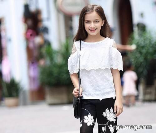 مدل بلوز شلوار دخترانه 11 سال