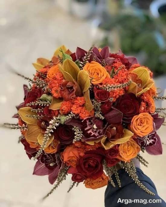 دسته گل زیبای اروپایی
