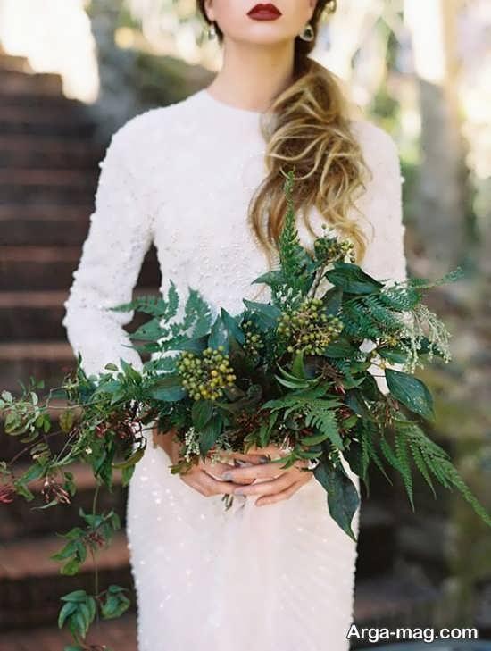 مدل گل عروس اروپایی با دیزاین ساده