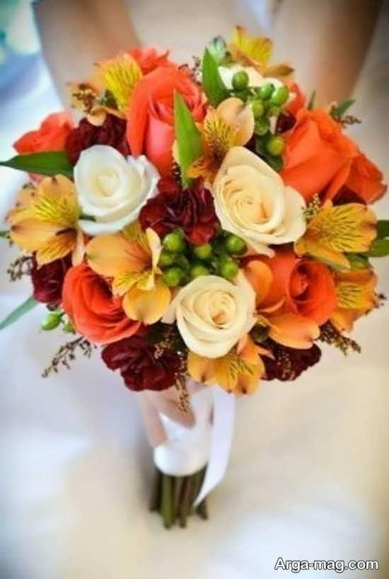 دسته گل عروس اروپایی و پاییزی