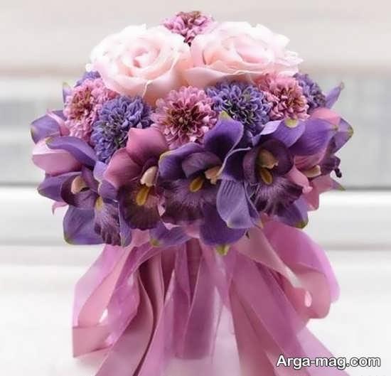 دسته گل عروس اروپایی شیک