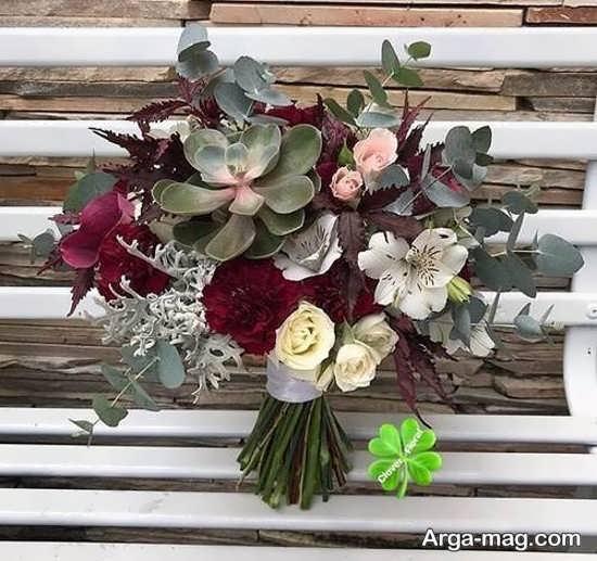 دسته گل اروپایی با طراحی زیبا