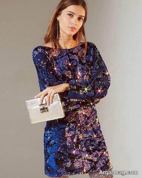 لباس با پارچه پولکی