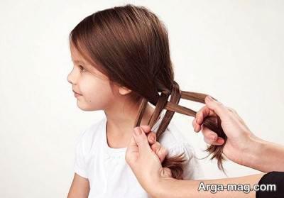 نحوه بافتن مو به صورت پنج تایی