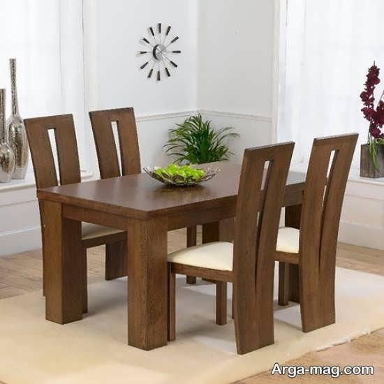 میز ناهارخوری 4 نفره با طراحی زیبا