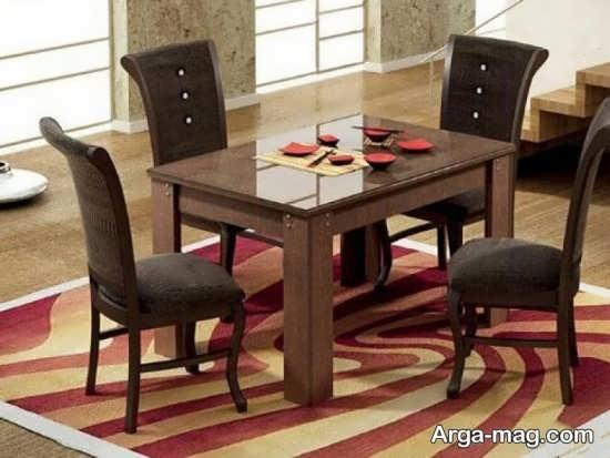 میز ناهارخوری 4 نفره با طراحی جدید