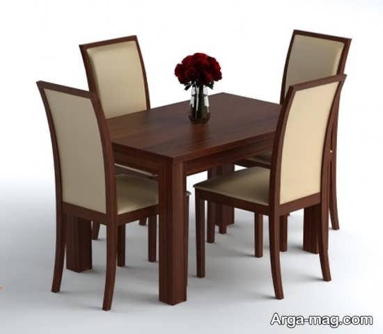 مدل میز ناهارخوری 4 نفره چوبی