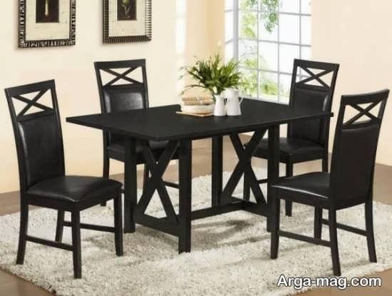 میز ناهارخوری 4 نفره با طرح مدرن
