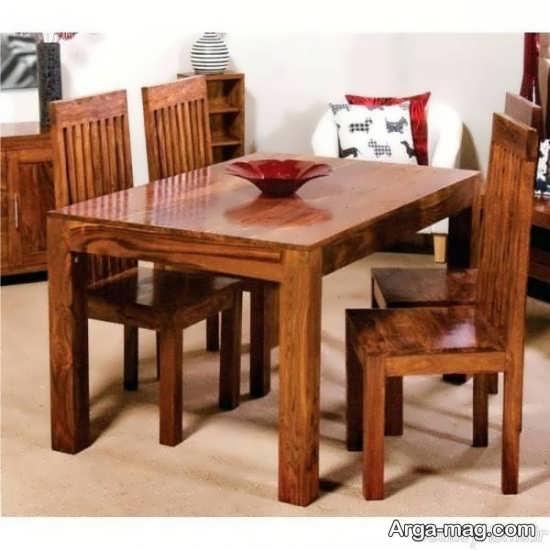 میز ناهارخوری 4 نفره مدل چوبی