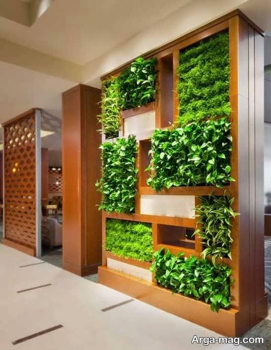 دیزاین داخلی منزل با باغچه عمودی