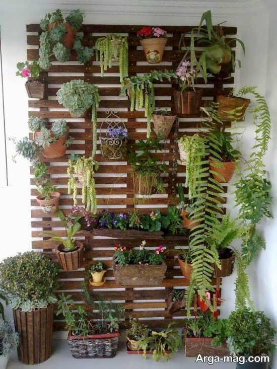 مدلهایی از دیوار سبز در منزل