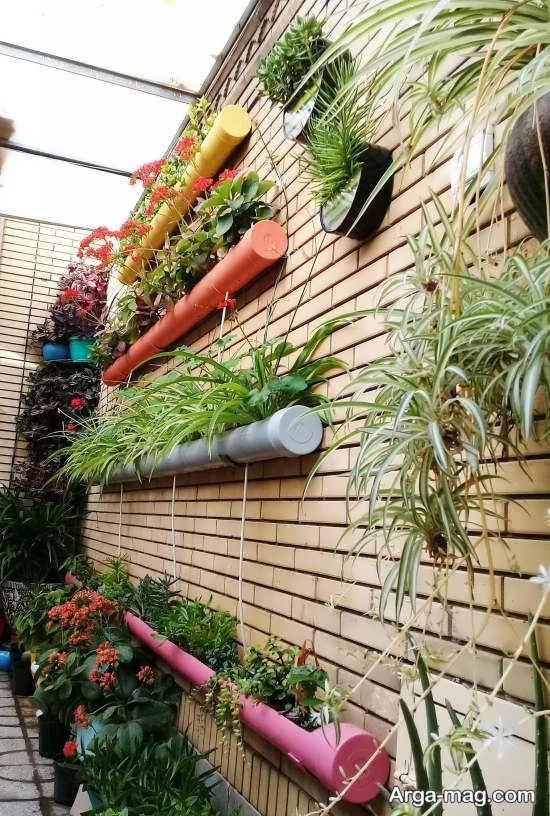 ایده ای خاص از طراحی باغچه عمودی