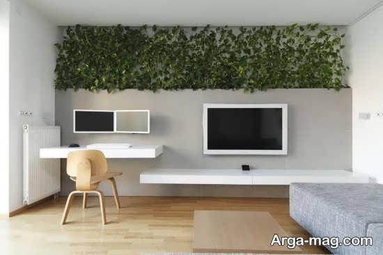 دیوار سبز در فضای نشیمن
