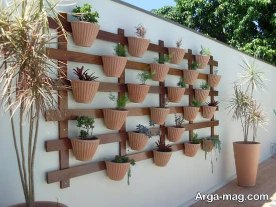 دیوار سبز با طراحی متفاوت