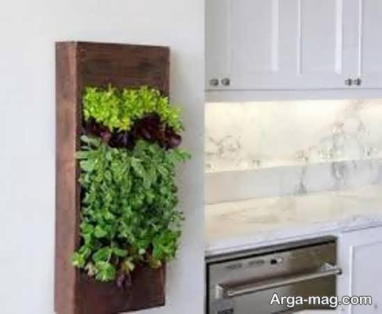 دیوار سبز با طراحی زیبا