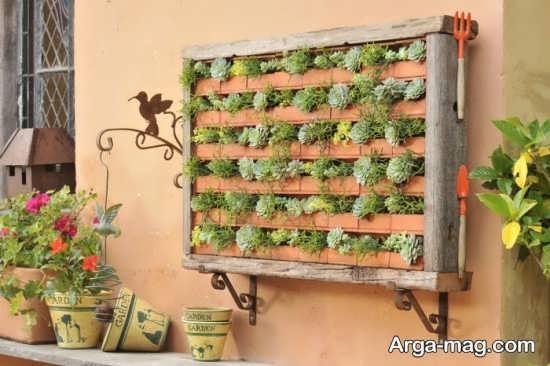 طراحی متفاوت باغچه دیواری