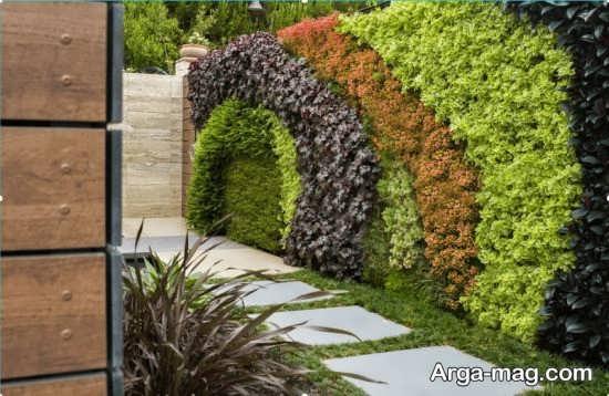 طراحی زیبای باغچه دیواری