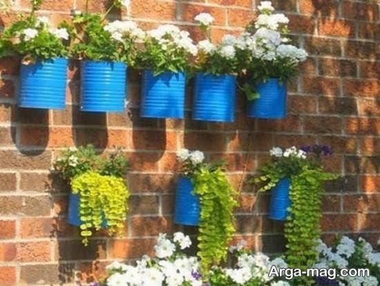 طراحی جدید باغچه دیواری