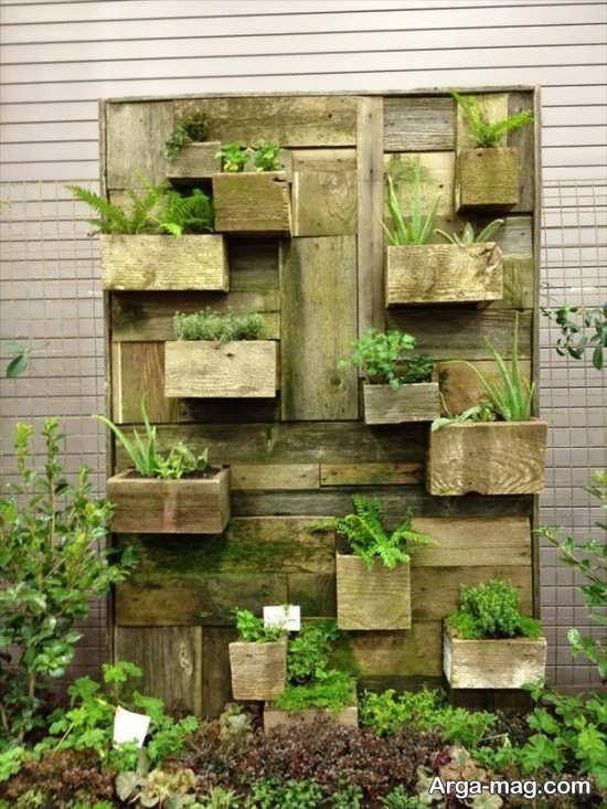 دیزاین باغچه عمودی با ایده جدید