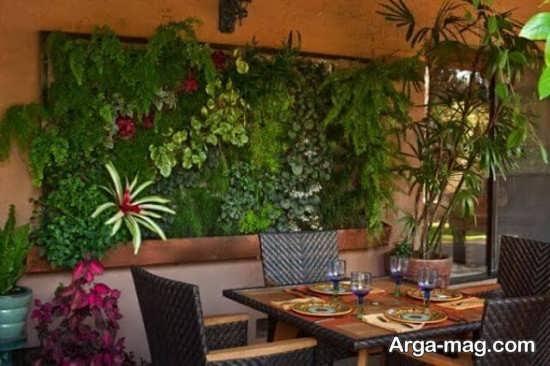 طراحی مدرن باغچه دیواری