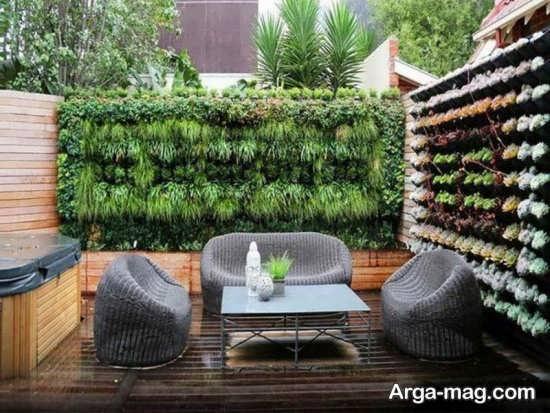 ایده باغچه دیواری+عکس