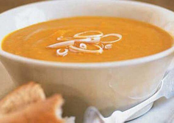 طرز تهیه سوپ زنجبیل