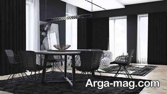 ایده دکوراسیون خانه با تم تاریک