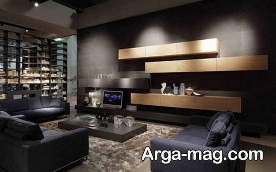 دیزاین منزل با تم سیاه