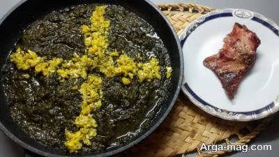 طرز پخت ترشه تره از غذاهای گیلانی با تخم مرغ و بدون تخم مرغ