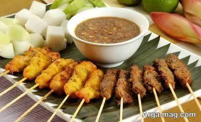 طرز تهیه کباب ساتای مرغ از غذاهای ناب و دوست داشتنی