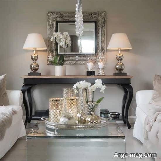 تزیین اتاق پذیرایی با آینه
