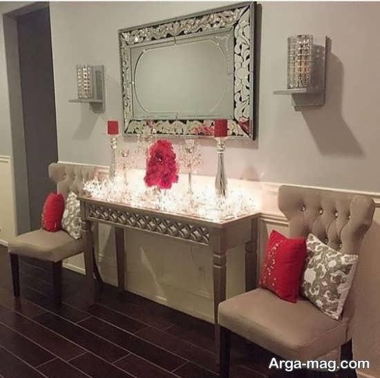 دکوراتیو اتاق پذیرایی با آینه