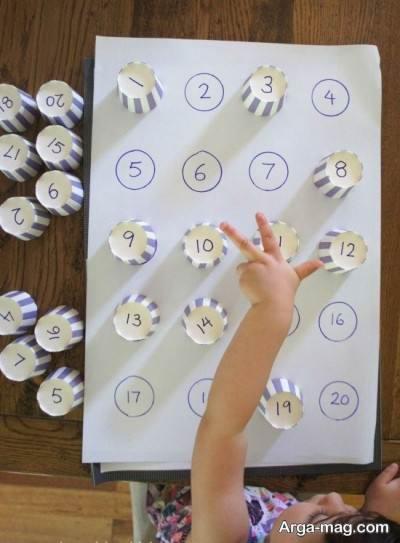 بازی تطبیق عدد برای بچه ها