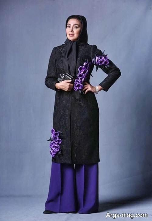 مدل مانتوهای مشکی مریم معصومی