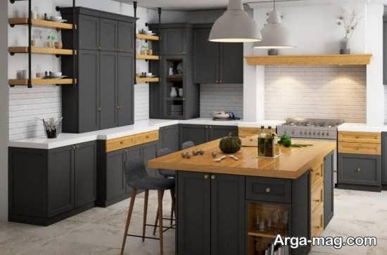 دکوراسیون آشپزخانه به شبک نئوکلاسیک