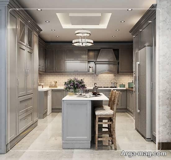 دکوراسیون نئوکلاسیک آشپزخانه