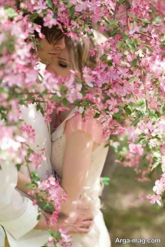 فیگور زیبا و متفاوت دخترانه با گل