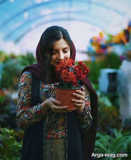 انواع جدید و متنوع زست عکس با گل