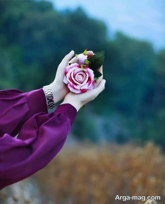 عکس جدید تک نفره با گل