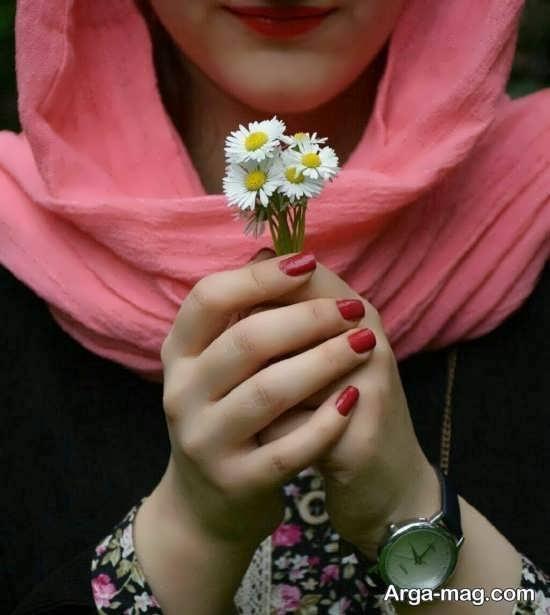 سری جدید ژست عکس با گل