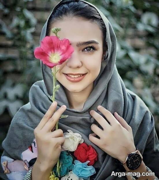 فیگور زیبا و متفاوت با گل
