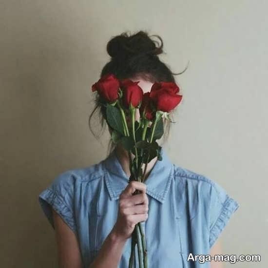 گالری زیبا و شیک ایده عکس دخترانه با گل