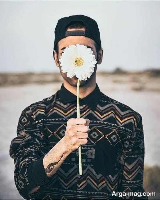 انوع ژست عکس خلاقانه و هنری با گل