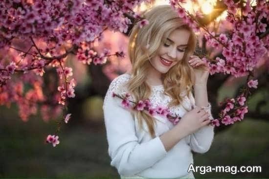 فیگورهای لاکچری و زیبای دخترانه با گل