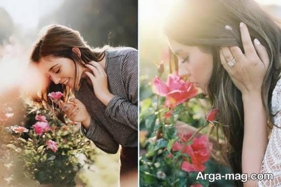 ایده های زیبا و شیک برای عکاسی با گل