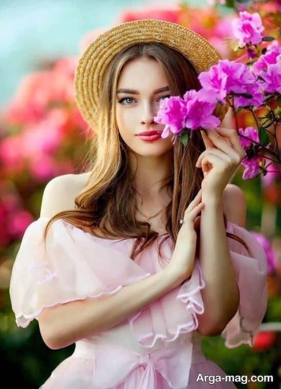 انواع جدید ژست عکس با گل