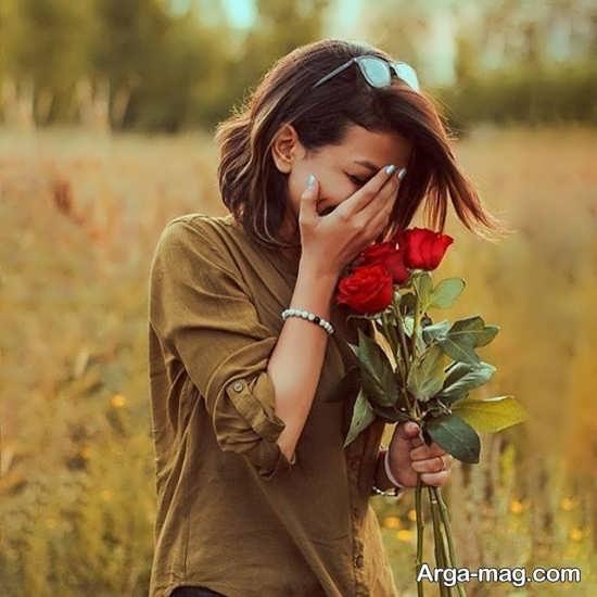 ایده های خاص برای عکس گرفتن با گل