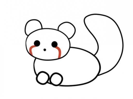 نقاشی زیبا پاندا برای بچه ها