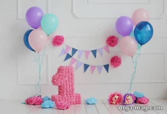 تزیین تولد با تمی ساده و خاص