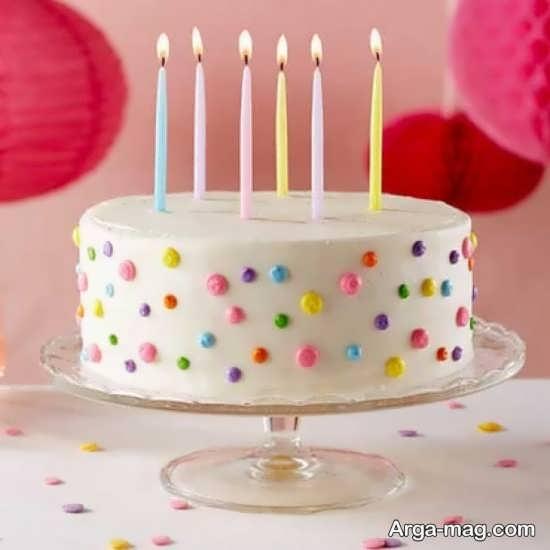 تزیین جشن تولد با تمی ساده
